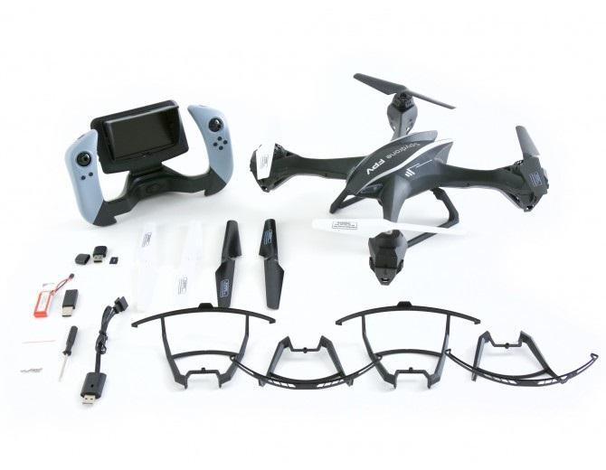 Комплектация Квадрокоптера Spydrone FPV