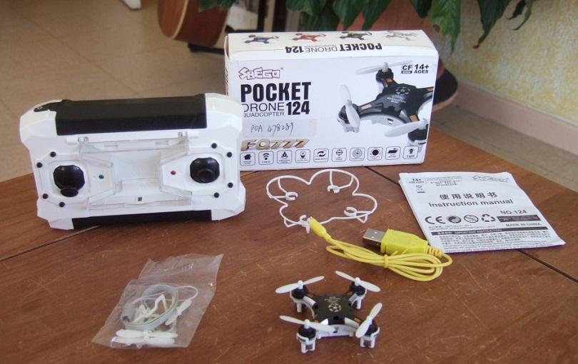 Комплектация квадрика FQ777-124 Pocket Drone