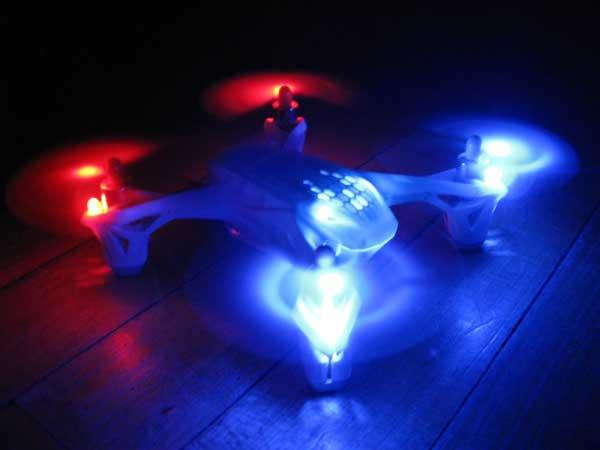 Время полета квадрокоптера Hubsan FPV X4 H107D+