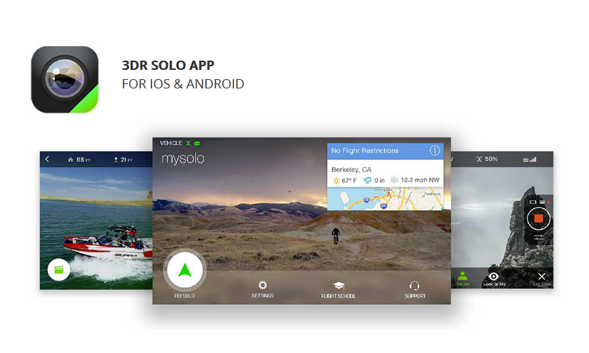 3DR SOLO приложения