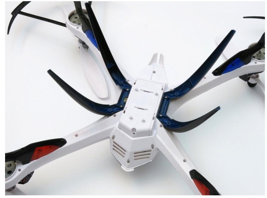 Квадрокоптер Yizhan Tarantula X6 (JJRC H16) вид снизу